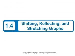 1 4 Shifting Reflecting and Stretching Graphs Copyright