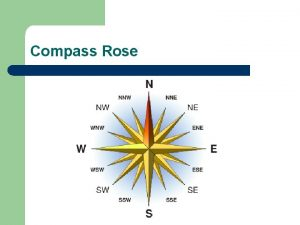 Compass Rose Hemispheres Continents and Oceans Section 1