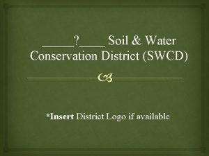 Soil Water Conservation District SWCD Insert District Logo
