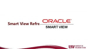 Smart View Refresh Data Input in Smart View