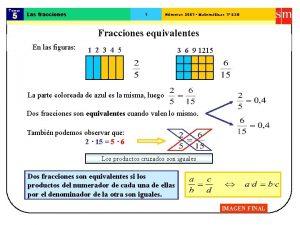 Tema 5 Las fracciones 1 Nmeros 2001 Matemticas
