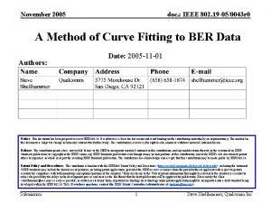 November 2005 doc IEEE 802 19 050043 r