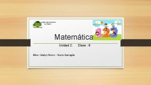 Colegio Ingles Woodland Los ngeles Matemtica Unidad 2