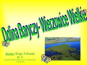 Autor Kinga Joczak kl V Zesp Szkoa Podstawowa