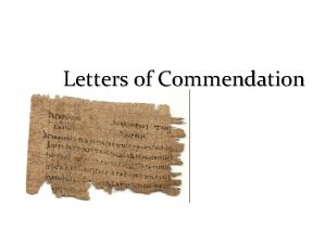 Letters of Commendation Primary Lessons Personally It impacts