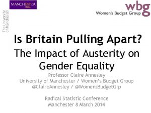 Is Britain Pulling Apart The Impact of Austerity