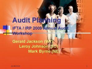 Audit Planning IFTA IRP 2009 Annual Audit Workshop