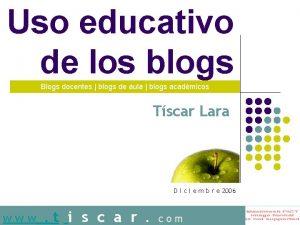Uso educativo de los blogs Blogs docentes blogs