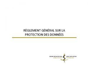 RGLEMENT GNRAL SUR LA PROTECTION DES DONNES 1