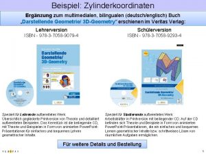 Beispiel Zylinderkoordinaten Ergnzung zum multimedialen bilingualen deutschenglisch Buch