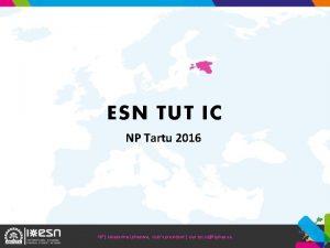 ESN TUT IC NP Tartu 2016 NP Jekaterina