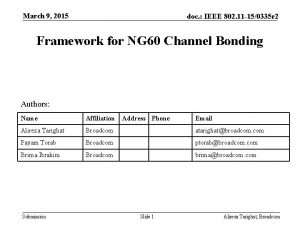 March 9 2015 doc IEEE 802 11 150335
