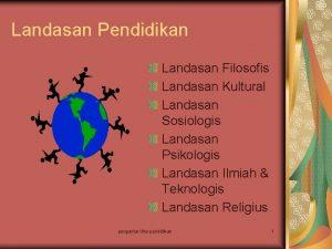 Landasan Pendidikan Landasan Filosofis Landasan Kultural Landasan Sosiologis