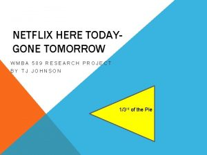 NETFLIX HERE TODAYGONE TOMORROW WMBA 509 RESEARCH PROJECT
