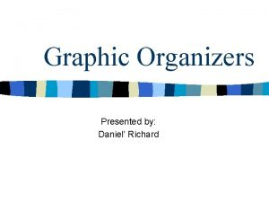 Graphic Organizers Presented by Daniel Richard Cognitive learning