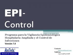 EPIControl Programa para la Vigilancia Epidemiolgica Hospitalaria Ampliada