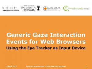 Generic Gaze Interaction Events for Web Browsers Using