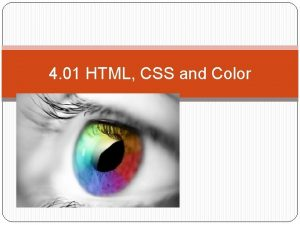 4 01 HTML CSS and Color Additive Color