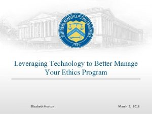 Leveraging Technology to Better Manage Your Ethics Program