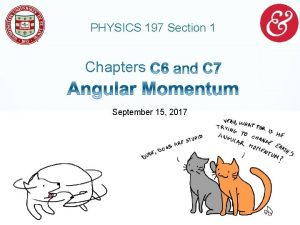 PHYSICS 197 Section 1 Chapters September 15 2017