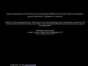 Early assessment of dosimetric and biological differences of