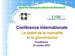 Association Internationale de la Mutualit SANCE INAUGURALE AIM