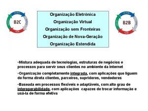 Organizao Eletrnica Organizao Virtual Organizao sem Fronteiras Organizao