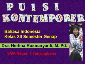 Bahasa Indonesia Kelas XII Semester Genap Dra Herlina