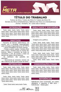 TTULO DO TRABALHO Fulano da Silva Fulano da