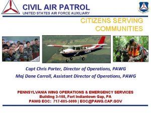 CIVIL AIR PATROL UNITED STATES AIR FORCE AUXILIARY