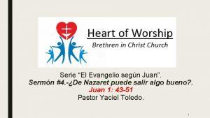 Serie El Evangelio segn Juan Sermn 4 De