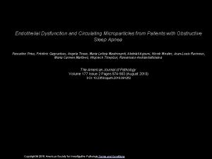 Endothelial Dysfunction and Circulating Microparticles from Patients with