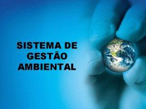 SISTEMA DE GESTO AMBIENTAL Mdulo IV Sistema de