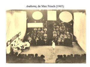 Andorra de Max Frisch 1965 Incndio do Oficina
