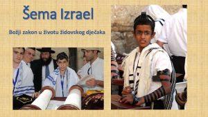 ema Izrael Boji zakon u ivotu idovskog djeaka