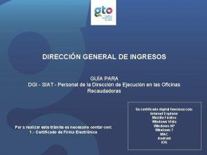 DIRECCIN GENERAL DE INGRESOS GUA PARA DGI SIAT