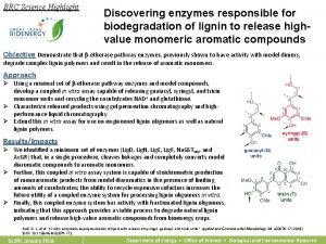 BRC Science Highlight Discovering enzymes responsible for biodegradation