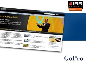 Go Pro Ltd The company Software company ISV