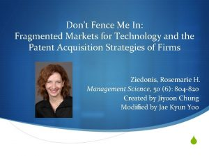 Dont Fence Me In Fragmented Markets for Technology