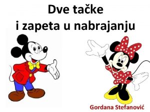 Dve take i zapeta u nabrajanju Gordana Stefanovi