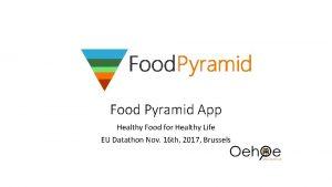 Food Pyramid App Healthy Food for Healthy Life
