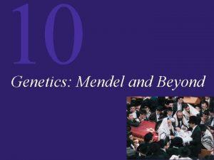 10 Genetics Mendel and Beyond 10 Genetics Mendel