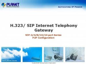 H 323 SIP Internet Telephony Gateway VIP2481624 port