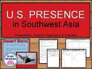 U S PRESENCE in Southwest Asia Presentation Graphic