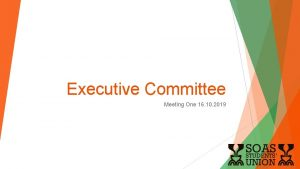 Executive Committee Meeting One 16 10 2019 Executive