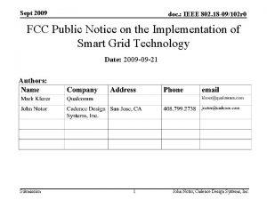 Sept 2009 doc IEEE 802 18 09102 r