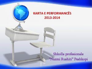 KARTA E PERFORMANCS 2013 2014 Shkolla profesionale Nazmi