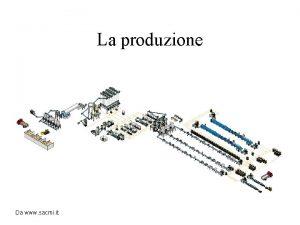 La produzione Da www sacmi it La produzione