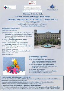 Giornata Di Studio della Societ Italiana Psicologia della
