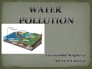 WATER POLLUTION Fernando Sequera Steven Correa Water pollution